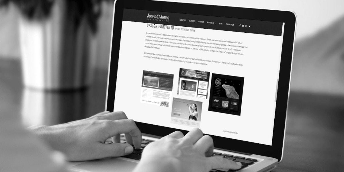 Laptop wordpress website