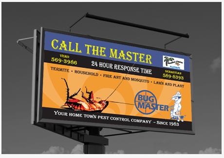 billboard design for Bug Master
