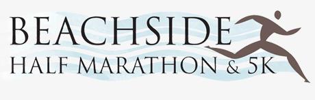 logo design beachside half marathon