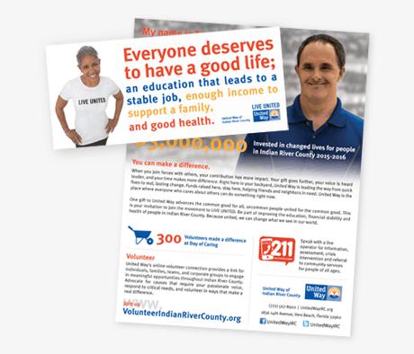 Tri-fold brochure for United Way