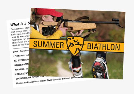 biathlon vero beach card design
