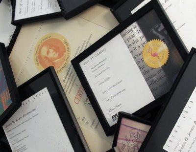framed design awards