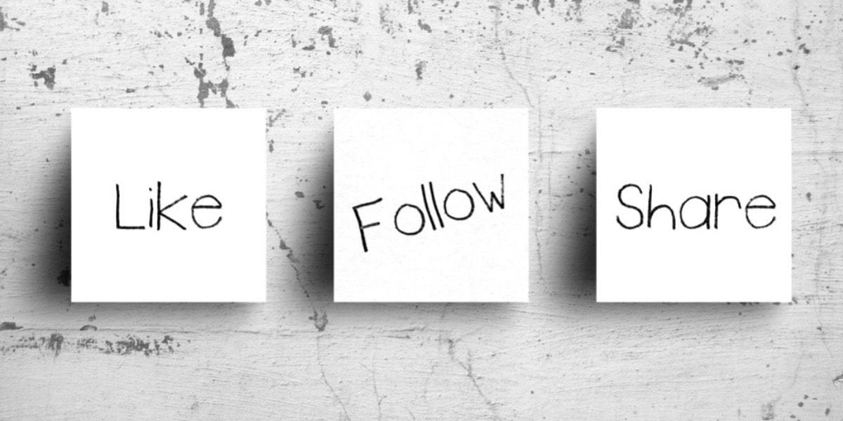 like follow share