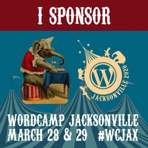 Sponsor badge Wordcamp JAX