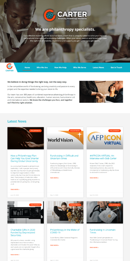 Consulting Website Sample