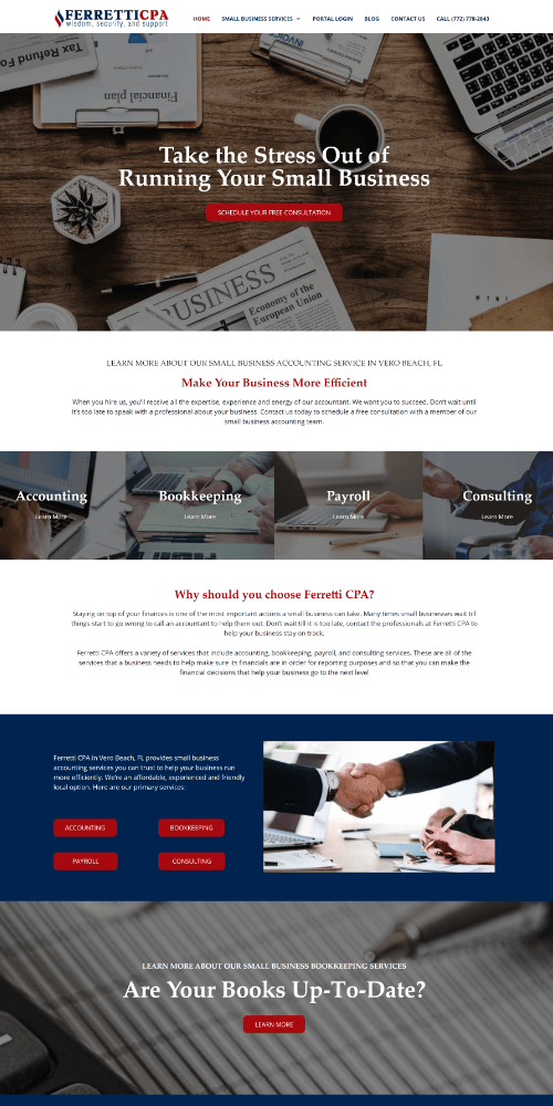 Accounting Website Sample