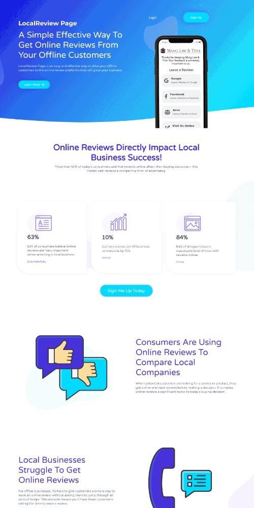 Sales Funnel Website Sample