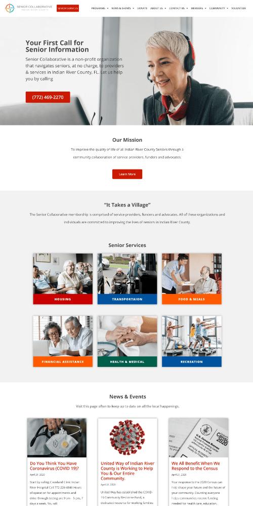 Senior Services Website Sample