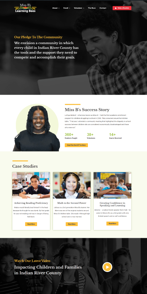 Non profit website