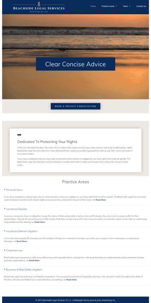 attorneys WordPress website