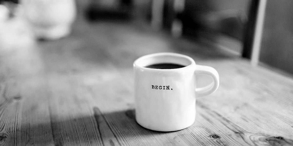 Coffee mug begin